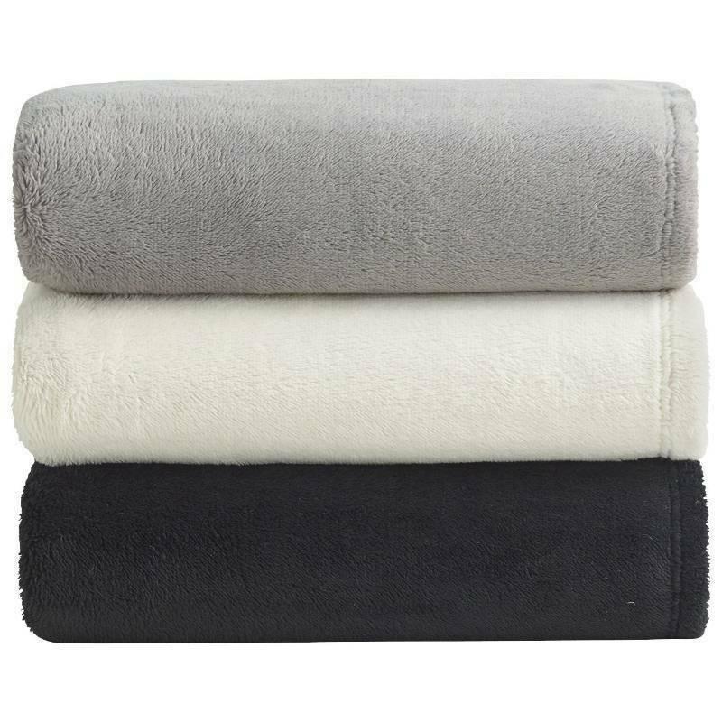 "Alcove Micro Plush Blanket 50"" X 60"" Soft Cozy Warm Colors"