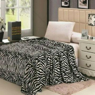 Modern Blanket Super Soft Throw Bedding Fleece Brown Beige B