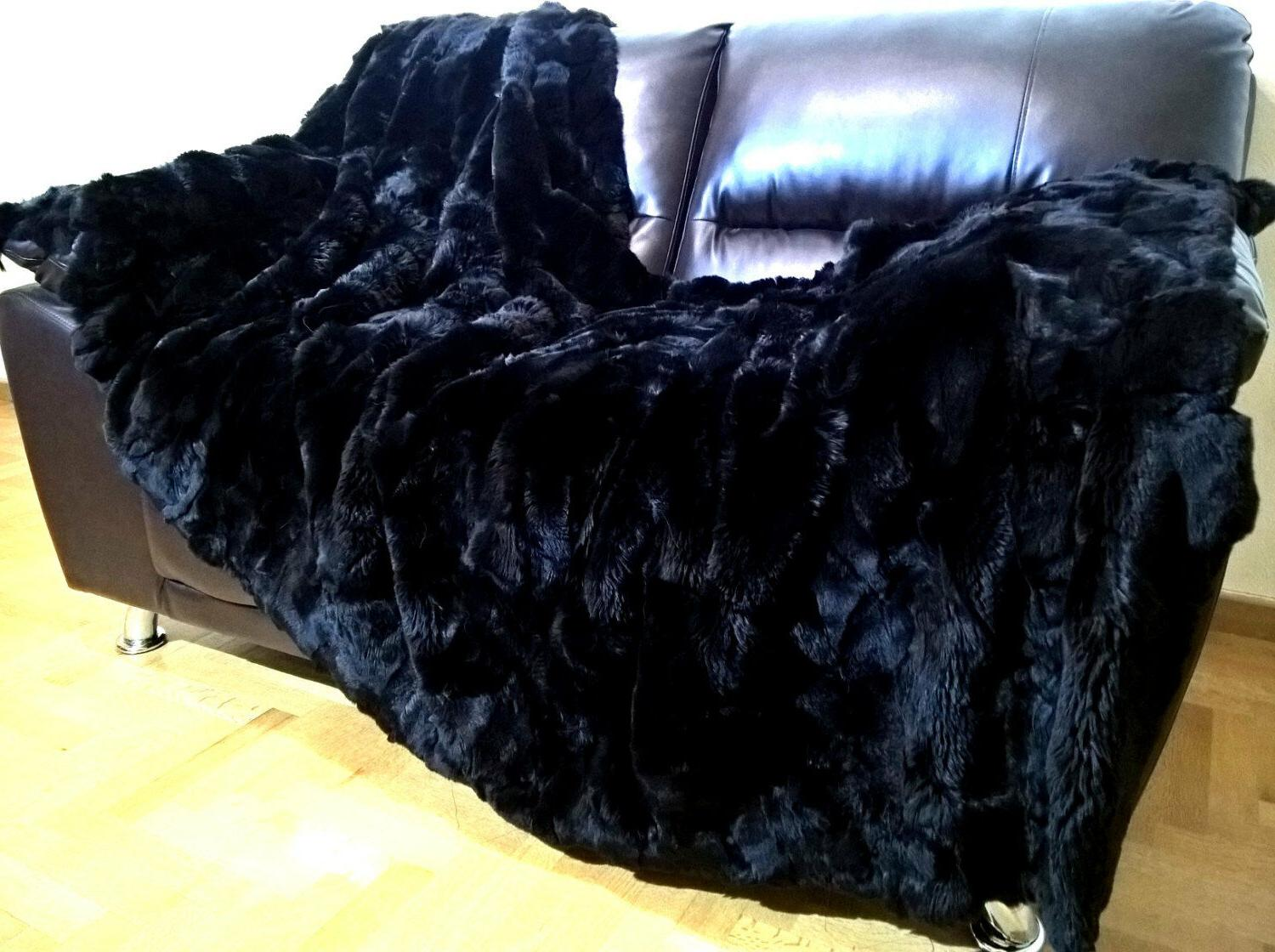 "Multipack Luxury Black Blanket and 20""x"