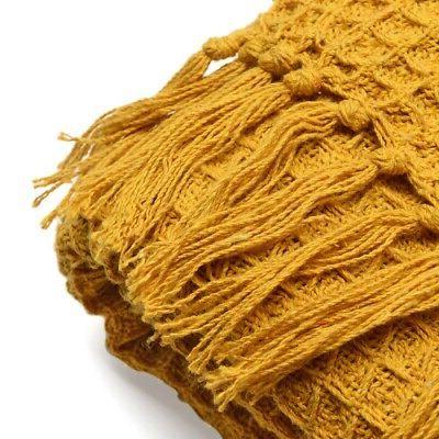 100% Cotton Mustard Pattern Blanket