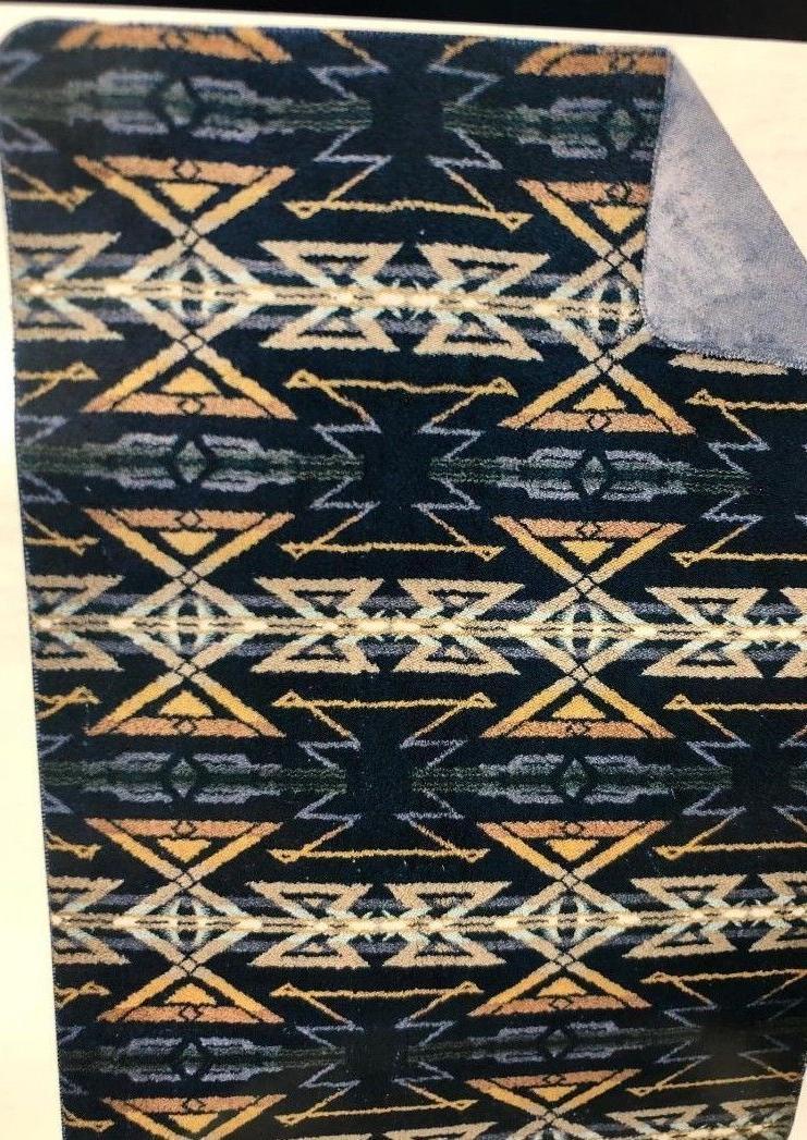 "NEW! Aztec Blue Fleece 50"" x"