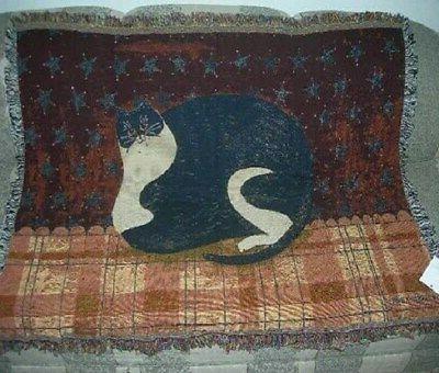 new fat cat warren kimble afghan tapestry