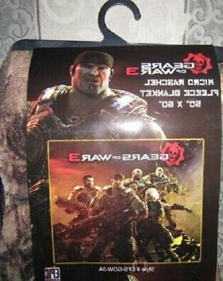 New Gears of War 3 XBox Fleece Throw Gift Video Game Marcus