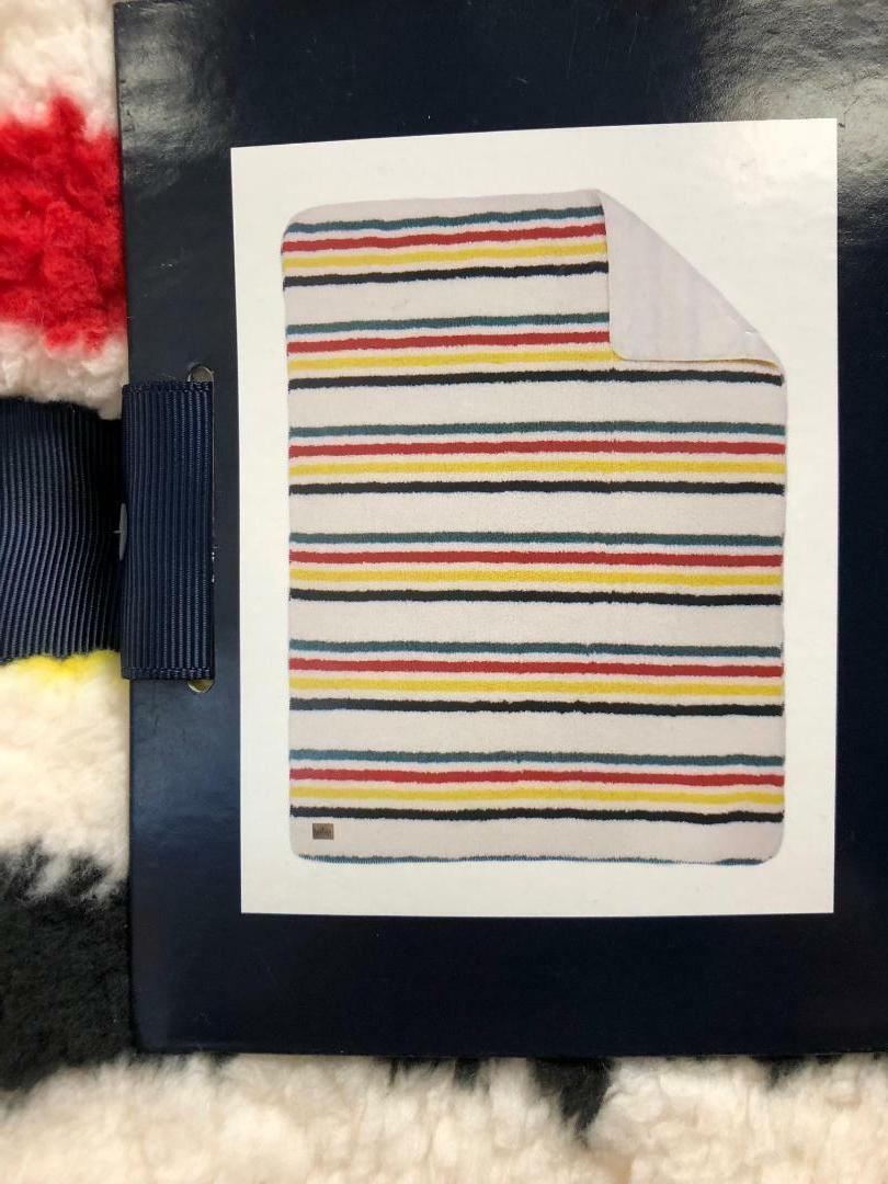 NEW Striped Reversible Sherpa Fleece Throw Blanket