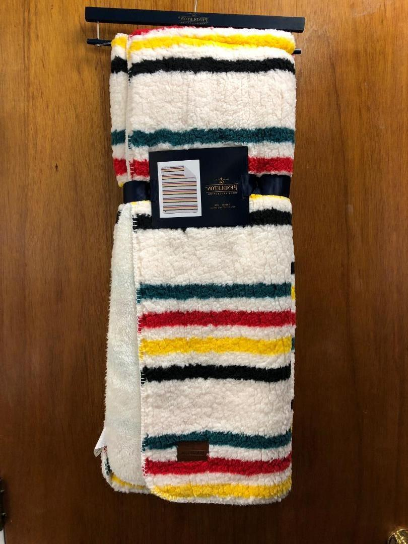 new glacier park striped reversible sherpa fleece