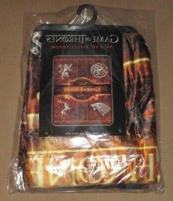 New of Thrones Fleece Gift Throw Sigils