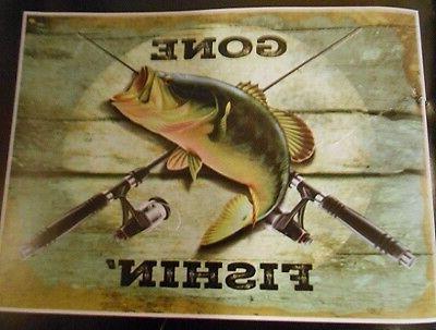 New Gone Throw Bass Fishing Lake Decor