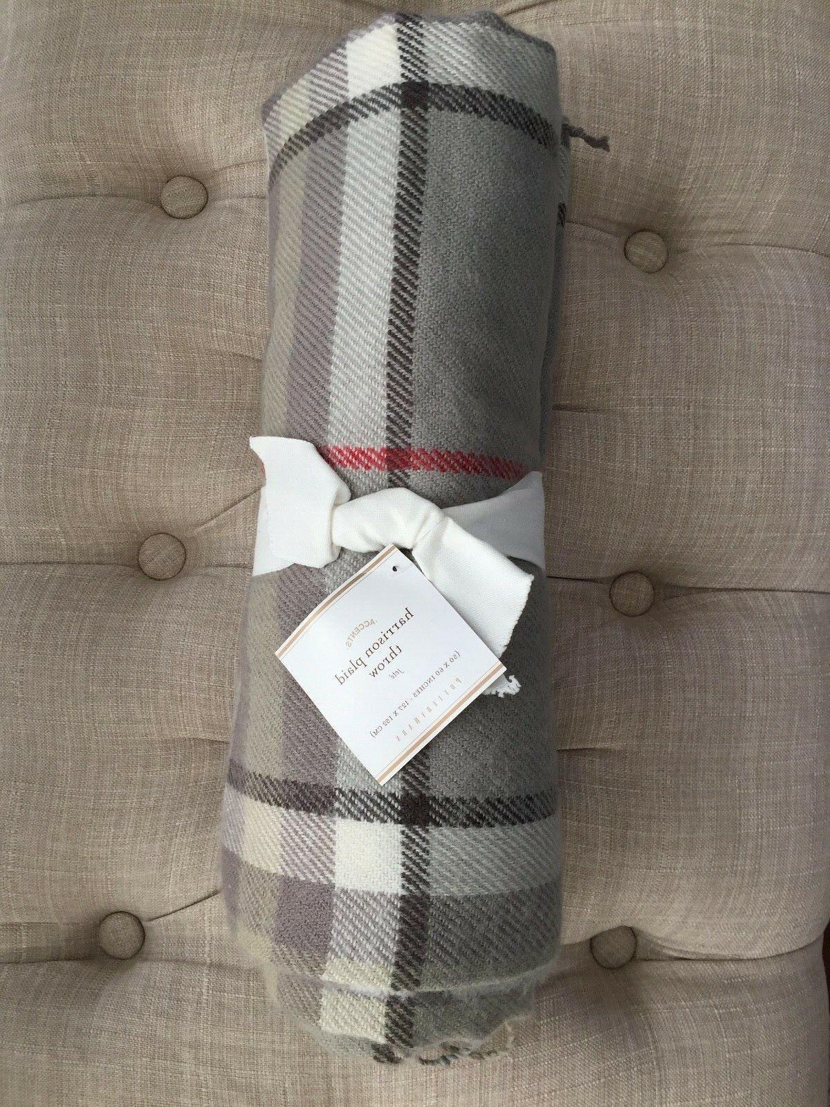 new harrison plaid fringed throw blanket holiday