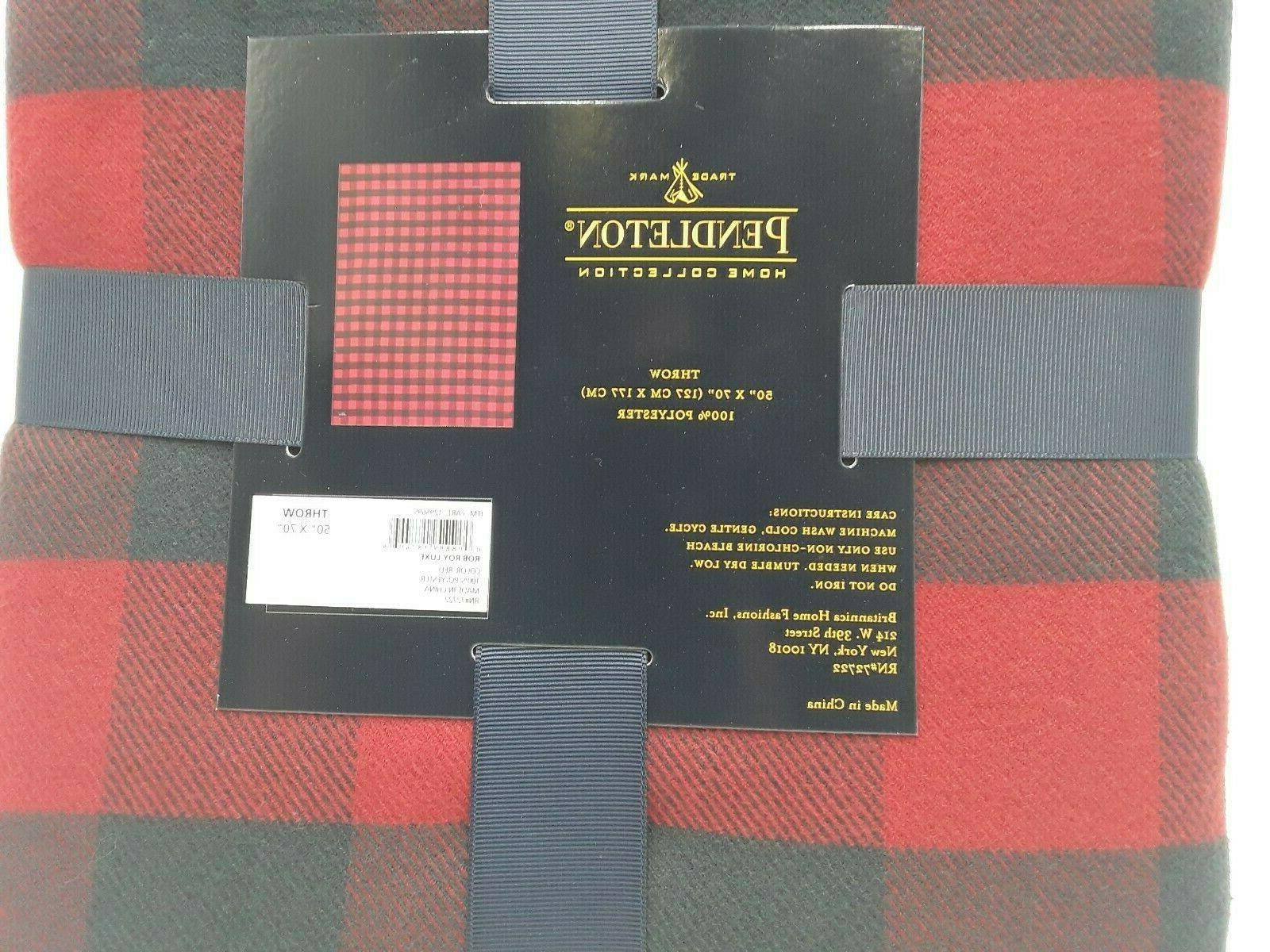 NEW PENDLETON HOME ROY RED DESIGN LUXE 50X70 NWT