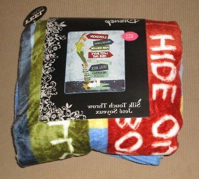 New Peter Way Plush Gift Blanket Neverland Disney NIP