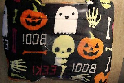 NEW Big Plush Halloween Throw Blanket 5 ft Ghost