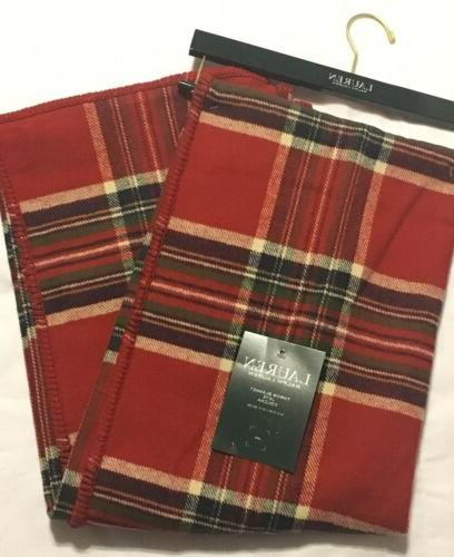new red tartan plaid throw blanket brushed