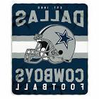 New Northwest NFL Dallas Cowboys Large Soft Fleece Throw Bla