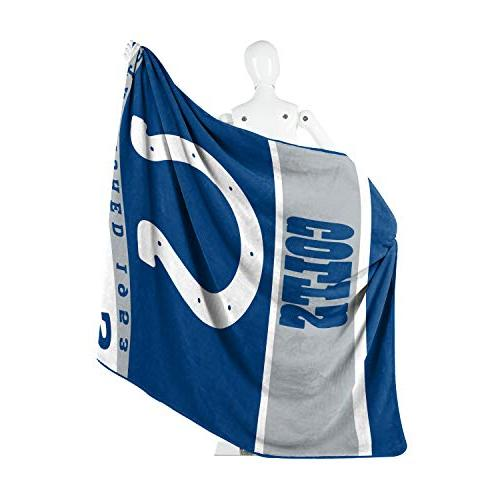 """The Licensed Indianapolis Colts 12th Man Throw 60"""" 80"""""""