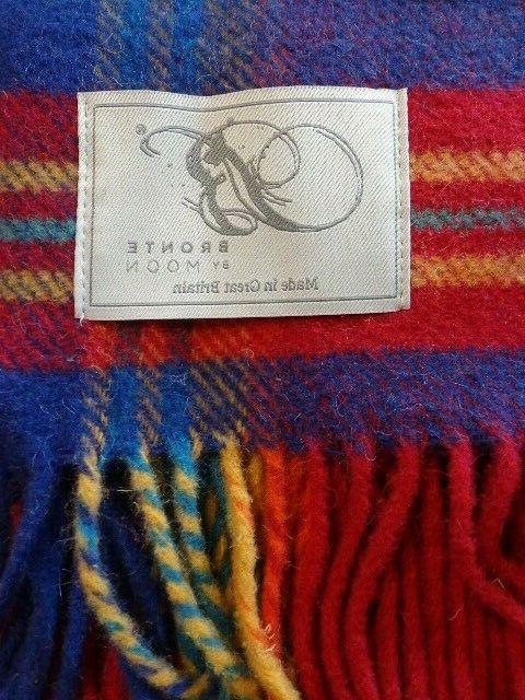 """NWT Blanket by Moon Block New 55"""" Multicolored"""