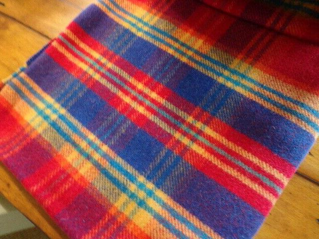 """NWT Blanket by Moon Block New Wool 55"""" Multicolored"""