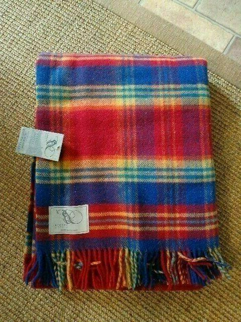 """NWT Blanket Throw by Moon 55"""" Multicolored"""