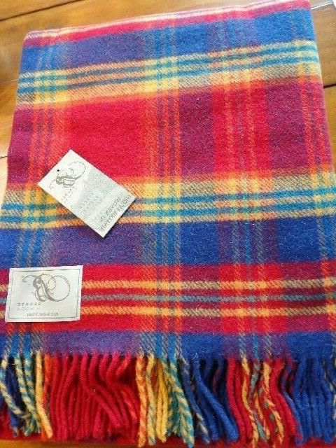 """NWT Blanket by Moon Check New Wool 55"""""""