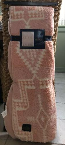 Nwt Pendleton Home Collection Reversible Pink Southwestern S