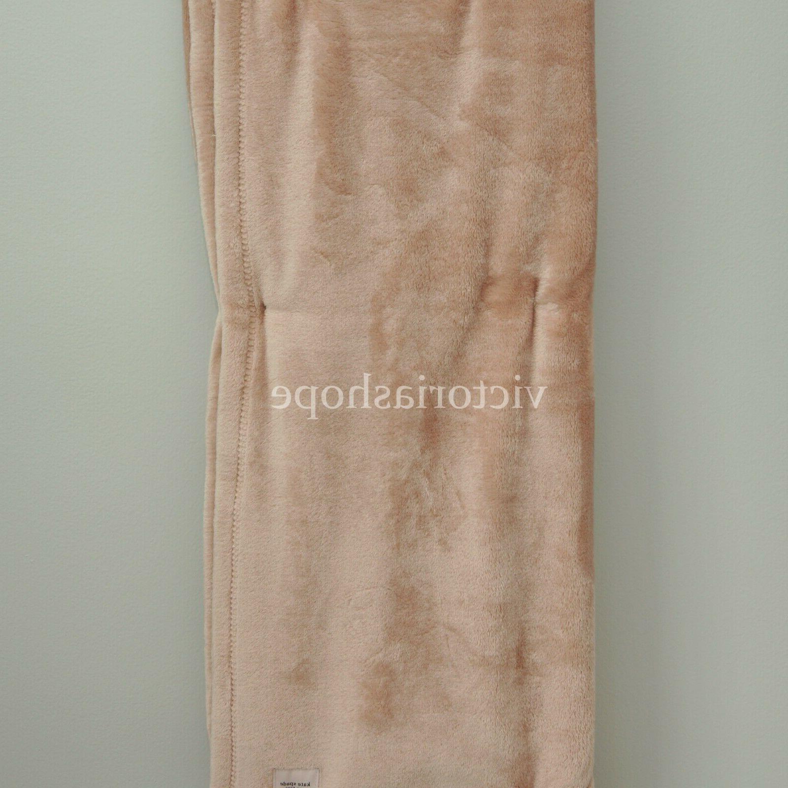 NWT Kate Spade Fleece Blanket X ~ Rose Pink