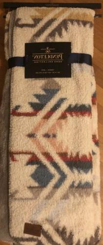 Nwt Pendleton Reversible Home Collection Sherpa Throw Blanke