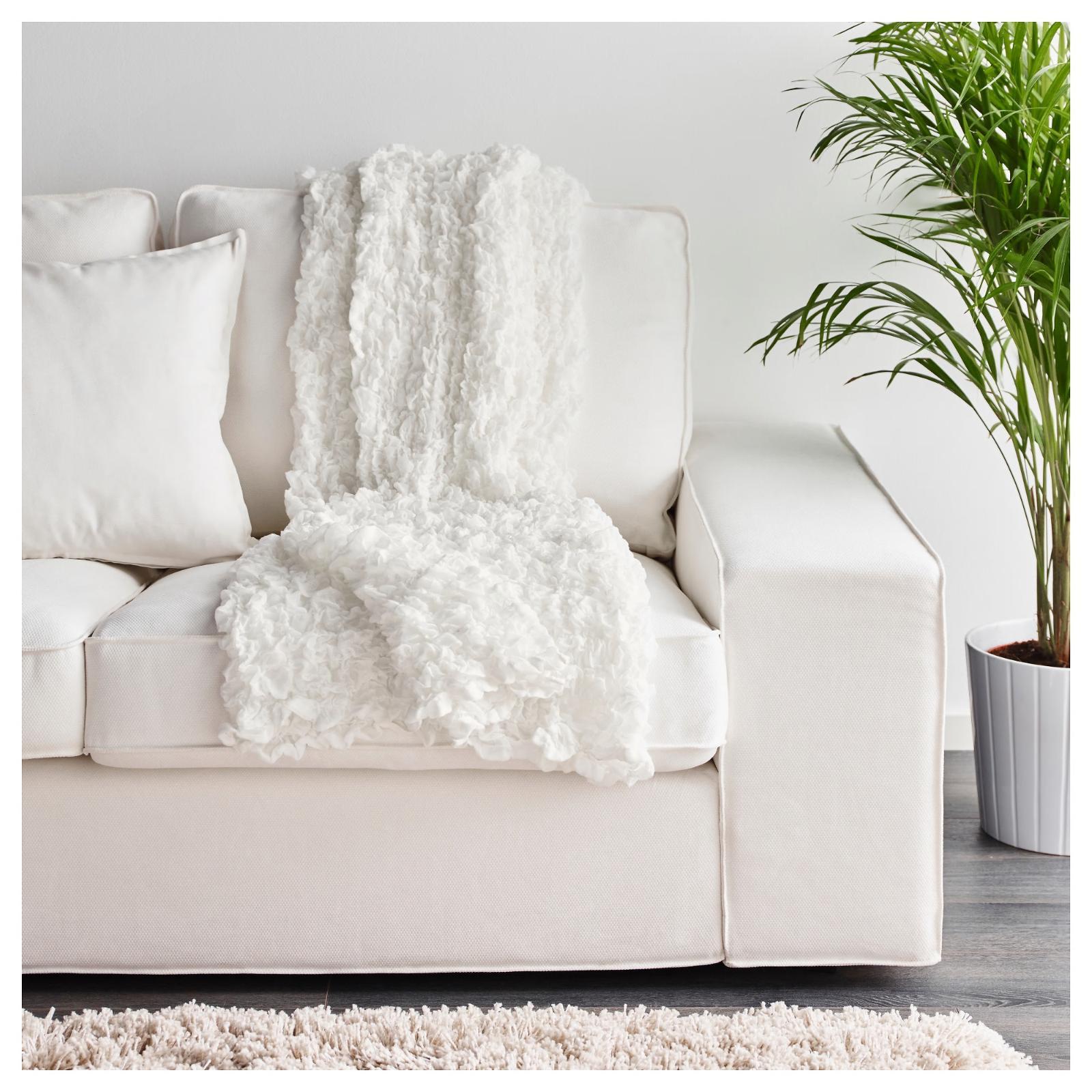 "Ikea OFELIA Crinkled x 67"" White -"