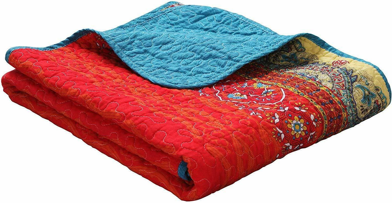 Paisley Boho Throw Blanket Exclusivo