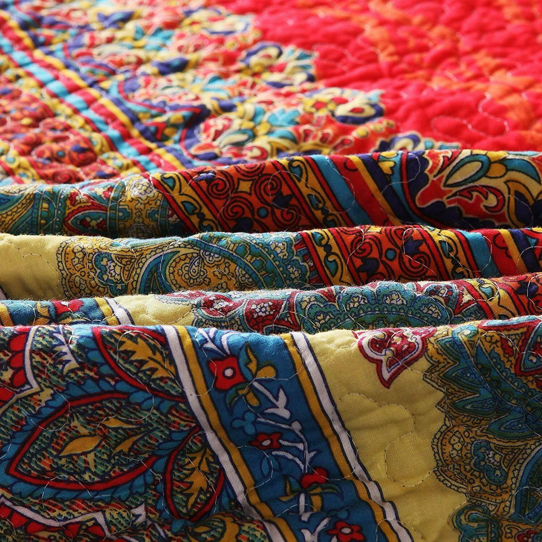 "Paisley Boho Throw Blanket Exclusivo Mezcla 60"" x"