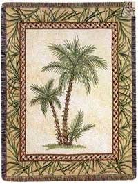 Paradise Palms Palm Tree Trees Cotton Tapestry Throw Blanket