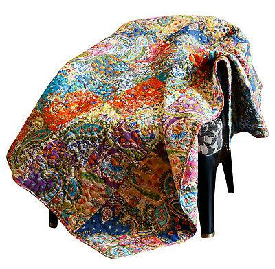 patchwork decorative throw blanket super