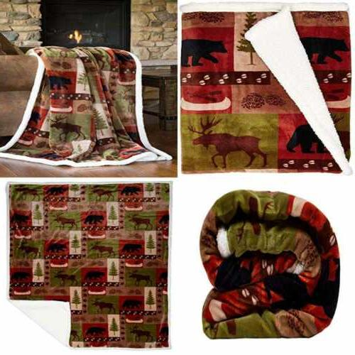 patchwork lodge soft sherpa plush