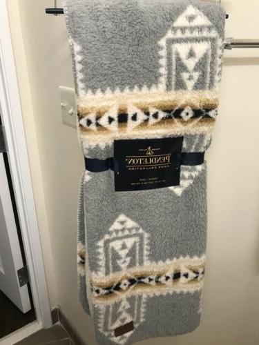 pendleton fleece sherpa aztec southwest throw blanket