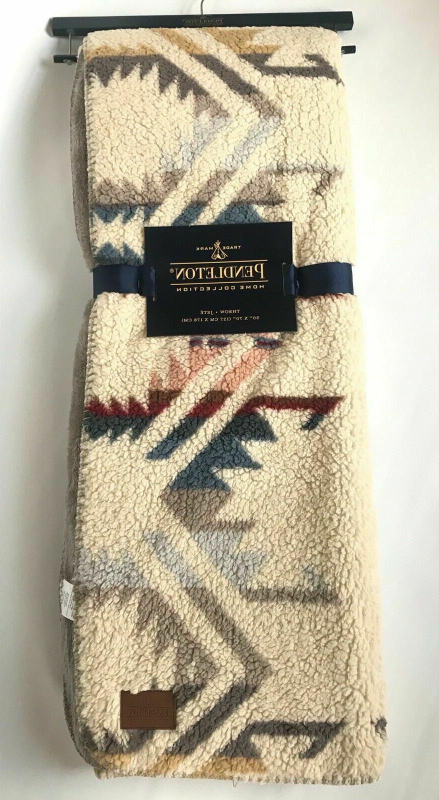 Pendleton Home Throw Blanket Southwest Warm Cream