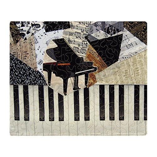 piano soft fleece throw blanket