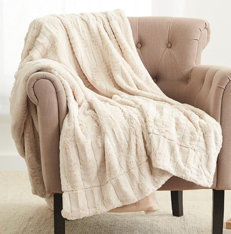 Pinzon Faux Fur Throw Blanket - 63 X 87 Inch, Ivory