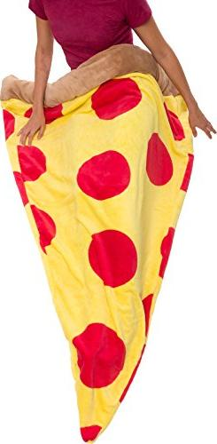 Silver Lilly Pizza Sleeping Bag - Plush Fleece Giant Pizza S