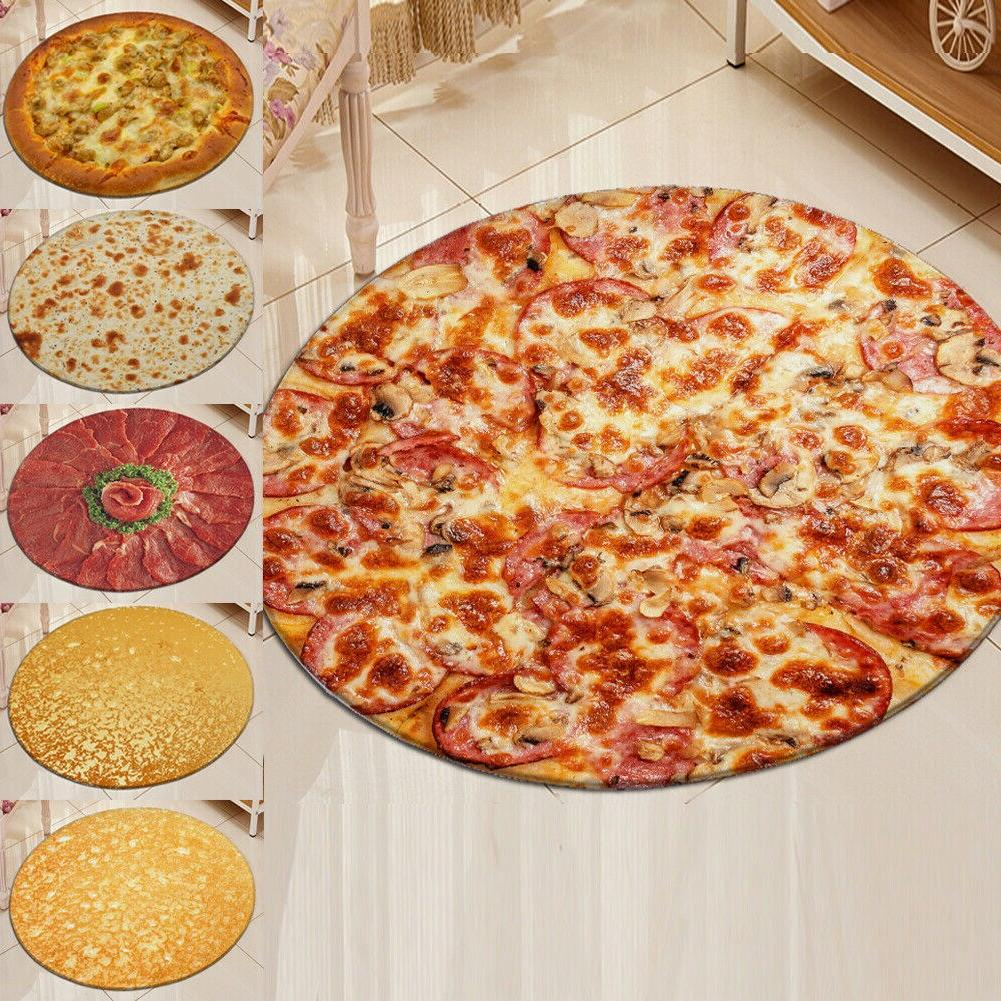 "Pizza Bath Mats 40""/60""/<font><b>90</b></font>"" & <font><b>Throw</b></font> 40/60/90CM"