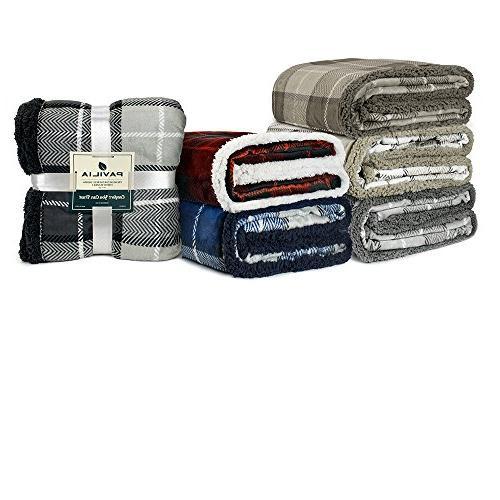 PAVILIA Throw Blanket Couch | Reversible | Lightweight All Fleece