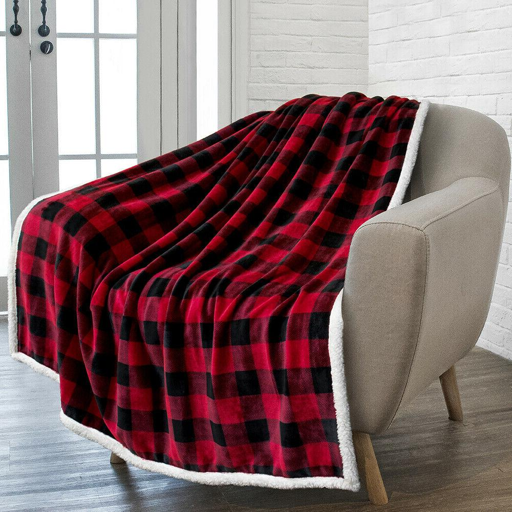 Plaid Blanket Warm Couch Bed