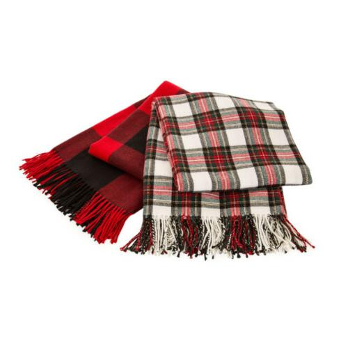 Glitzhome Fringe Throw Blanket Sofa Couch Home Christmas Gifts