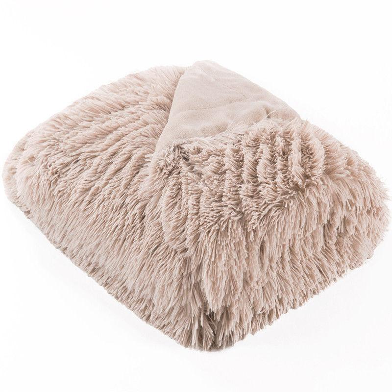 Bedsure Faux Fur Reversible Throw Warm Blanket