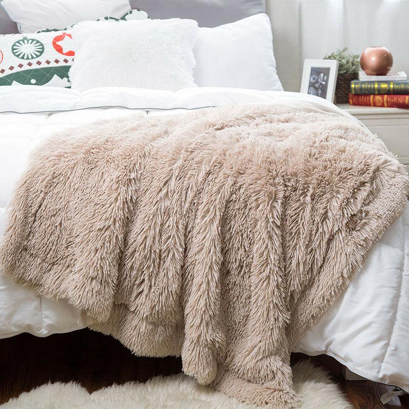 Bedsure Plush Faux Reversible Fleece Warm Soft Bed Blanket