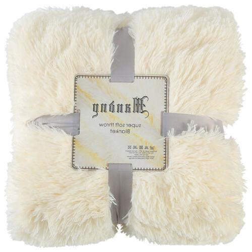 Reversible Blanket Soft Sofa Throw Shaggy