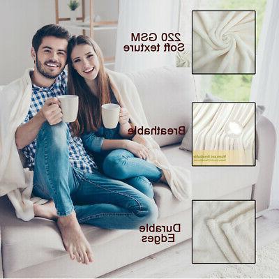 Plush Flannel Fleece Blanket Warm Blanket Queen