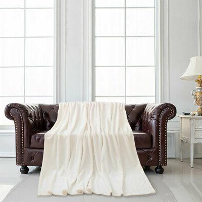 Plush Flannel Blanket Warm Blanket King