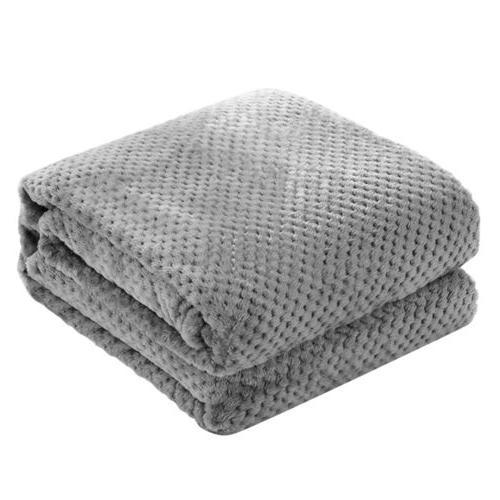 Soft Faux Fur Throw Blanket Silky Flannel Fleece Lightweight