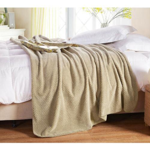 Flannel Fleece Throw Soft Sofa Throw Twin