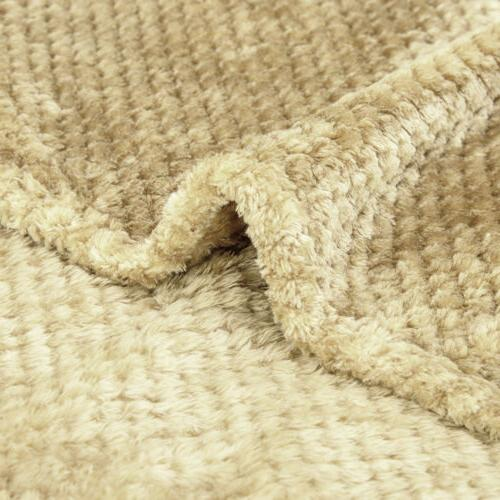 Plush Blanket Faux Fur for Sofa Bed