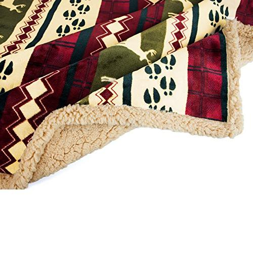 PAVILIA Plush Throw Christmas Soft, Warm, Cozy, Microfiber Winter Throw | Theme