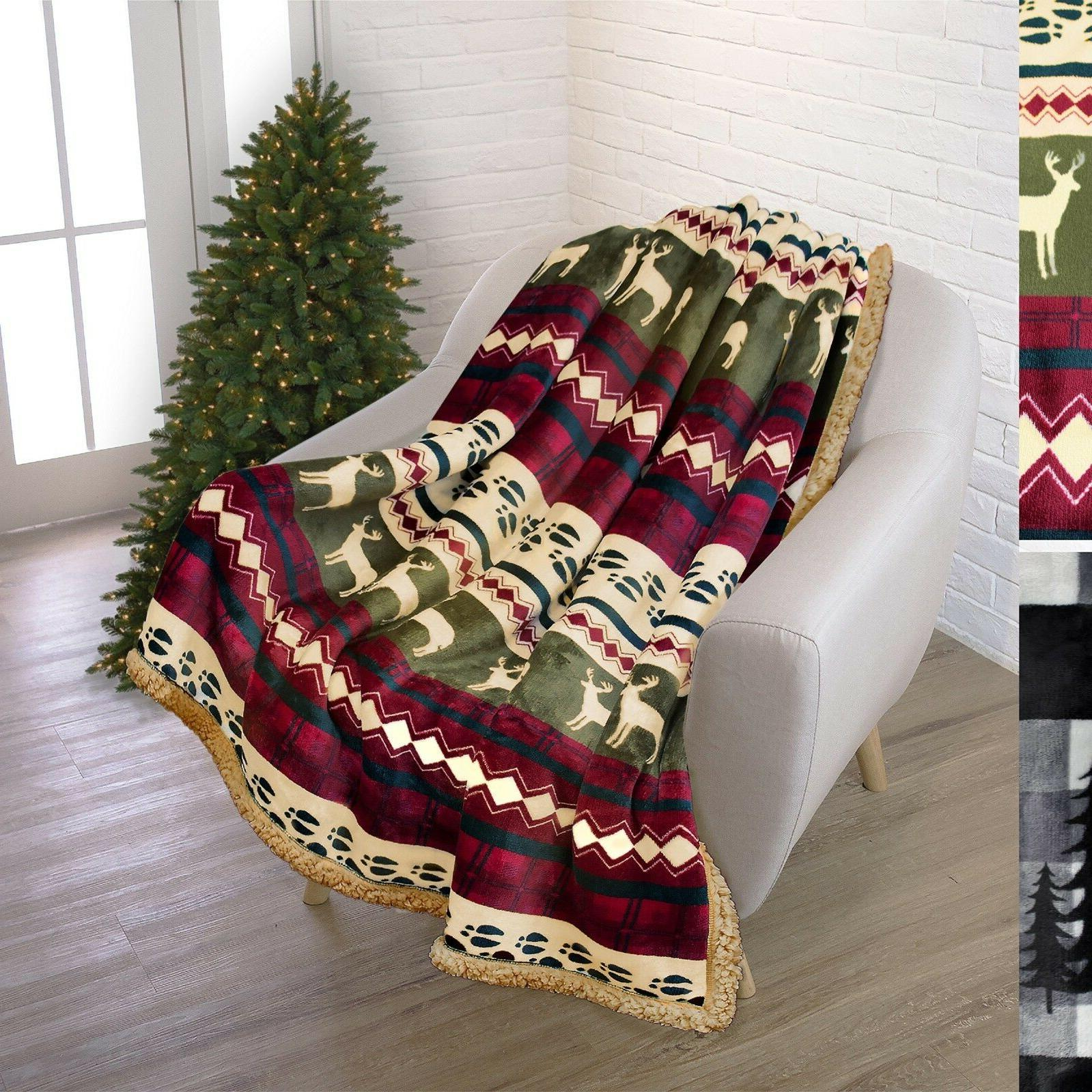 plush sherpa throw winter blanket